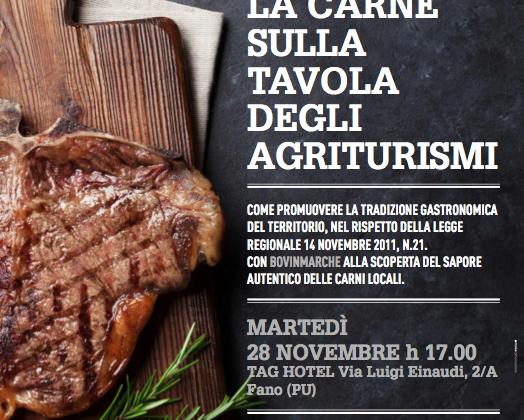 La carne sulla tavola degli agriturismi: il convegno Bovinmarche per rispondere alla nuova normativa regionale